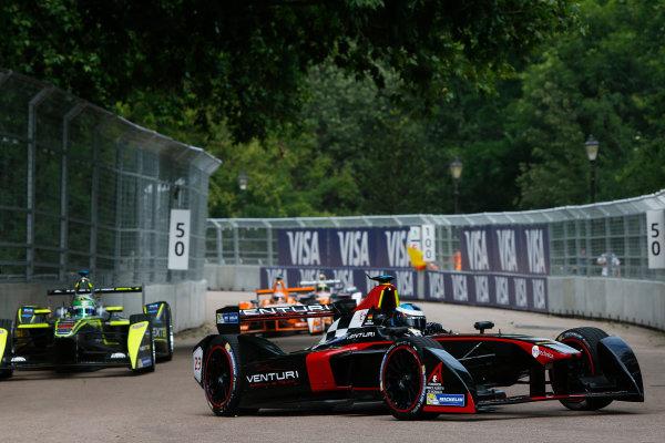 2014/2015 FIA Formula E Championship. London ePrix, Battersea Park, London, United Kingdom. Friday 26 June 2015 Nick Heidfeld (GER)/Venturi Racing - Spark-Renault SRT_01E, on the shakedown. Photo: Zak Mauger/LAT/Formula E ref: Digital Image _L0U7145