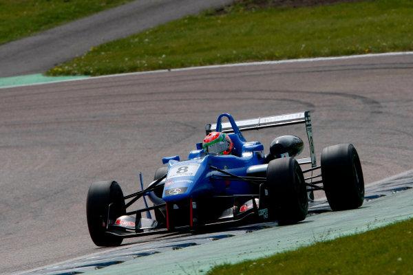 2014 Cooper Tires British Formula 3 International Series, Rockingham Motor Speedway, Northamptonshire. 4th - 5th May 2014.  Andy Chang (MAC) Double R Racing Dallara Mercedes. World Copyright: Ebrey / LAT Photographic.