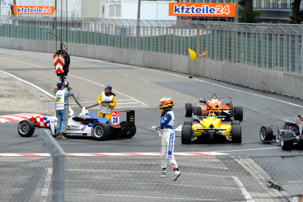 2014 FIA European F3 Championship Round 6 - Norisring, Germany. 27th - 29th June 2014 Jake Dennis (GBR) CARLIN Dallara F312 Volkswagen World Copyright: XPB Images / LAT Photographic  ref: Digital Image 3191158_HiRes