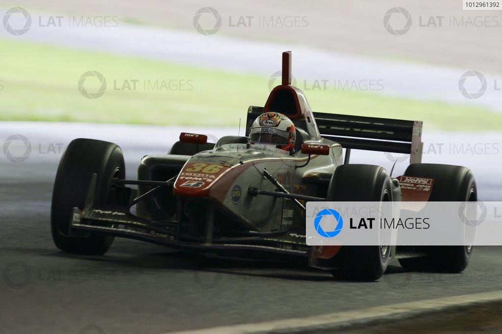 2006 Formula Nippon ChampionshipTwin-Ring Motegi, Japan. 28th May 2006Race winner Andre Lotterer (DHG Tom's) 1st position, action.World Copyright: Yasushi Ishihara/LAT Photographicref: Digital Image 2006FN_R3_002