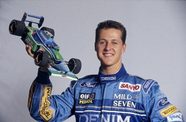 1994 Mild Seven Benetton sponsorship launch.Michael Schumacher.World Copyright: LAT Photographic