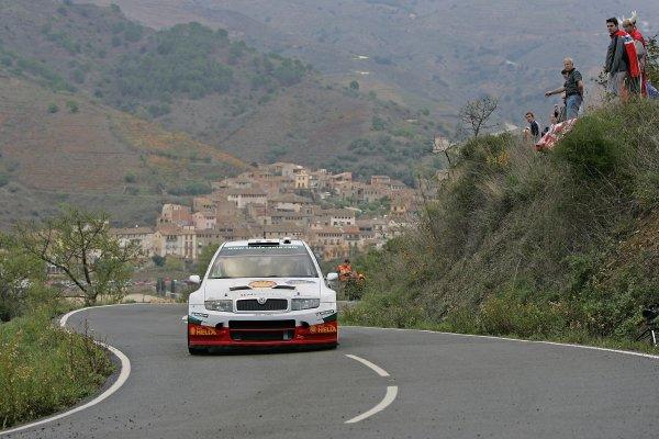 2005 FIA World Rally Champs. Round fifteenRally RACC Catalunya - Costa Durada.27th-30th  October 2005.Alexandre Bengue, Skoda, action.World Copyright: McKlein/LAT