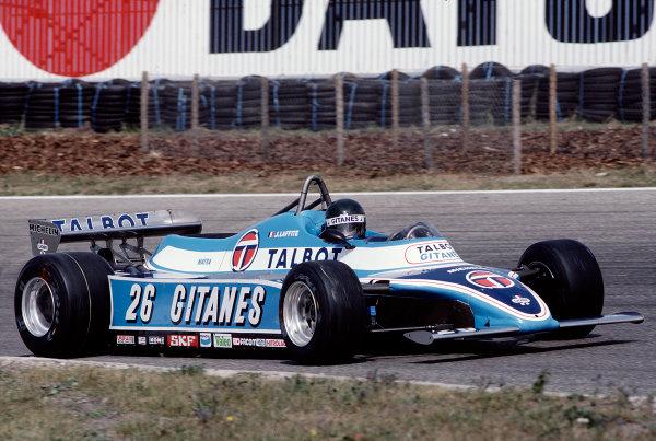 1981 Dutch Grand Prix.Zandvoort, Holland.28-30 August 1981.Jacques Laffite (Ligier JS17 Matra).Ref-81 HOL 39.World Copyright - LAT Photographic