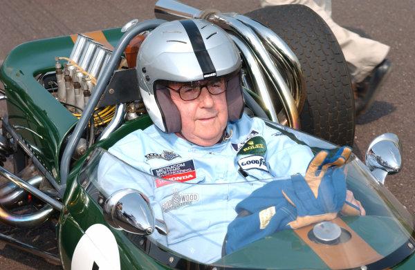2004 Goodwood Revival MeetingGoodwood, England. 3rd - 5th September 2004.Sir Jack Brabham, portrait.World Copyright: Jeff Bloxham/LAT Photographicref: Digital Image Only