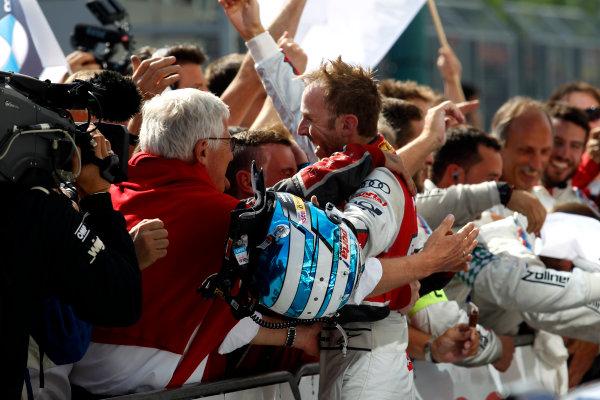 2017 DTM Round 3 Hungaroring, Budapest, Hungary. Sunday 18 June 2017. Race winner René Rast, Audi Sport Team Rosberg, Audi RS 5 DTM World Copyright: Alexander Trienitz/LAT Images ref: Digital Image 2017-DTM-R3-HUN-AT1-2659