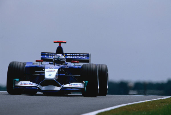 2002 British Grand Prix, Silverstone, England. 7th July 2002. Nick Heidfeld, Sauber Petronas C21, 6th place finish.World Copyright - LAT Photographic Ref: 35mm Original A20