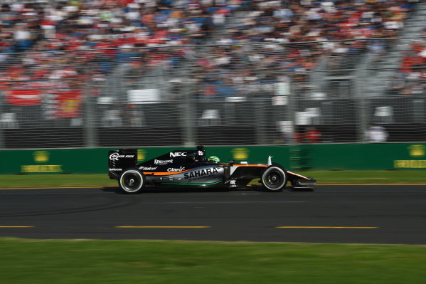 Sergio Perez (MEX) Force India VJM09 at Formula One World Championship, Rd1, Australian Grand Prix, Race, Albert Park, Melbourne, Australia, Sunday 20 March 2016.