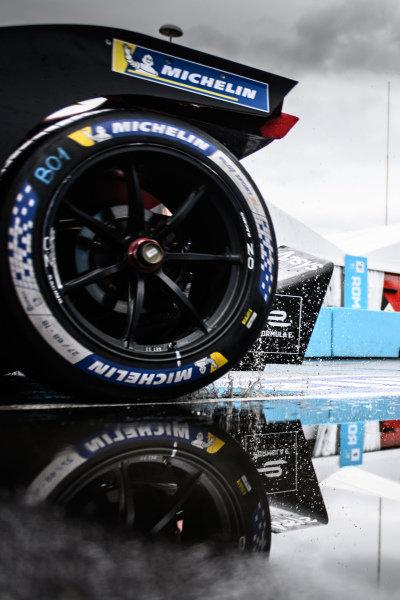 The rear of the car of Pascal Wehrlein (DEU), Tag Heuer Porsche, Porsche 99X Electric