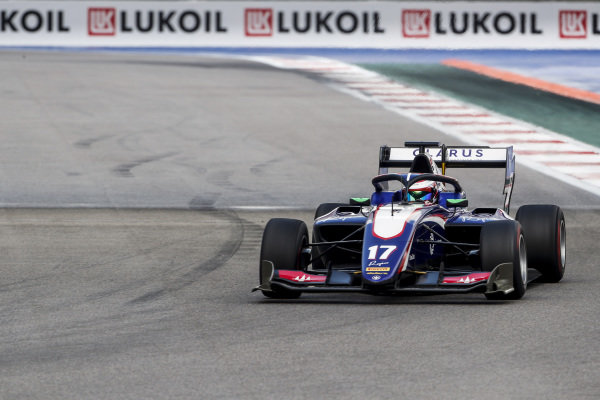 SOCHI AUTODROM, RUSSIAN FEDERATION - SEPTEMBER 28: Devlin DeFrancesco (CAN, Trident) during the Sochi at Sochi Autodrom on September 28, 2019 in Sochi Autodrom, Russian Federation. (Photo by Carl Bingham / LAT Images / FIA F3 Championship)