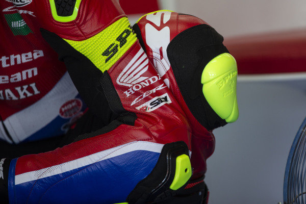Leon Camier, Honda WSBK Team leathers.