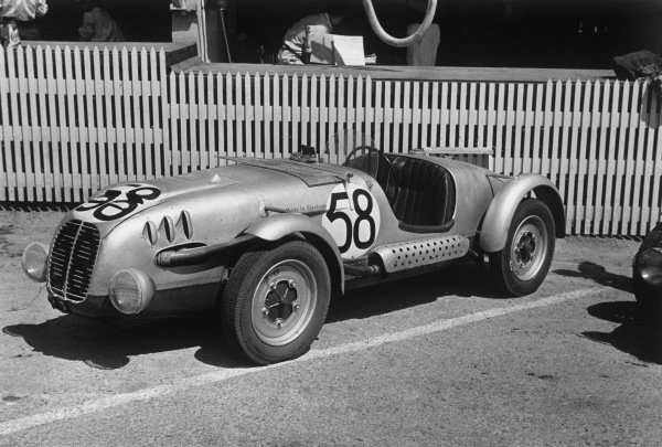 Le Mans, France. 25th - 26th June 1949.F. Sutnar/O. Krattner (Aero Minor Sport 750), 15th position, in the pits, portrait. World Copyright: LAT Photographic.Ref: L431A - 35A.