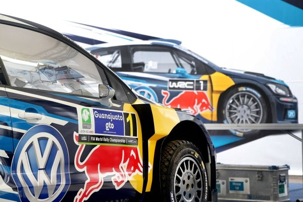 The car of Sebastien Ogier (FRA) / Julien Ingrassia (FRA), Volkswagen Polo R WRC at World Rally Championship, Rd3, Rally Mexico, Preparations, Leon, Mexico, 5 March 2015.