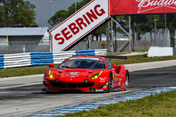 2017 WeatherTech SportsCar Championship - IMSA February Test Sebring International Raceway, Sebring, FL USA Friday 24 February 2017 62, Ferrari, Ferrari 488 GTE, GTLM, Juan Pablo Montoya driving in afternoon practice session. World Copyright: Richard Dole/LAT Images ref: Digital Image RD_2_17_174