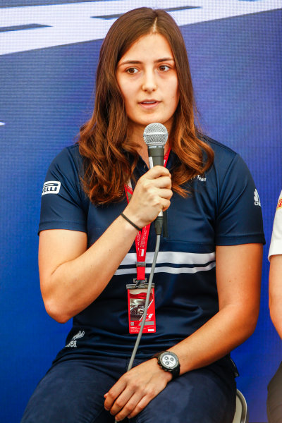 Monte Carlo, Monaco. Saturday 27 May 2017. Tatiana Calderon, Sauber, at a Women in Motorsport Press Conference. World Copyright: Andy Hone/LAT Images ref: Digital Image _ONZ0377
