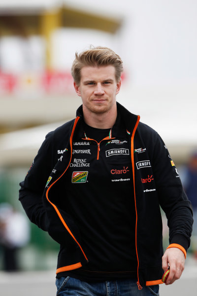 Interlagos, Sao Paulo, Brazil. Friday 7 November 2014. Nico Hulkenberg, Force India. World Copyright: Charles Coates/LAT Photographic. ref: Digital Image _N7T7296