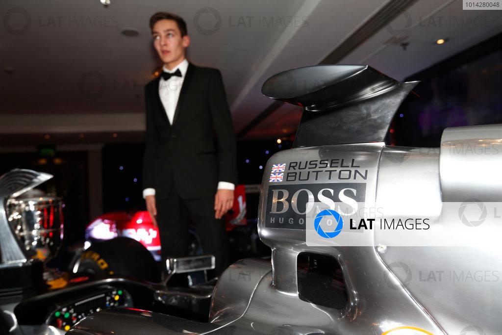 2014 Autosport Awards. Grosvenor House Hotel, Park Lane, London. Sunday 7 December 2014. George Russell wins the 2014 McLaren AUTOSPORT BRDC Award. World Copyright: Sam Bloxham/LAT Photographic. ref: Digital Image _14P4040
