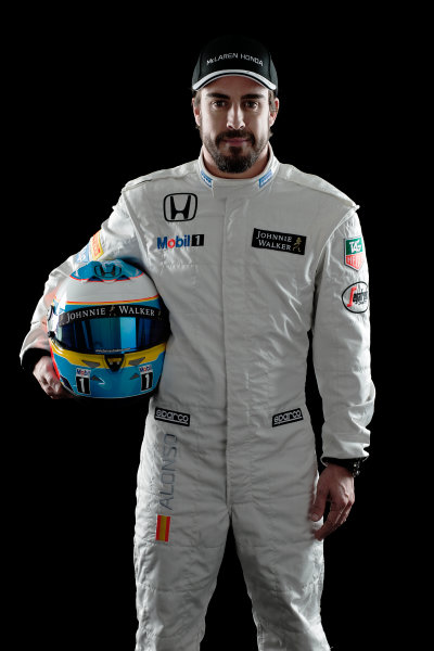 McLaren Honda MP4-30 Reveal Woking, UK. 29 January 2015 Fernando Alonso. Photo: McLaren (Copyright Free FOR EDITORIAL USE ONLY) ref: Digital Image MH-Drivers-20150127-0683