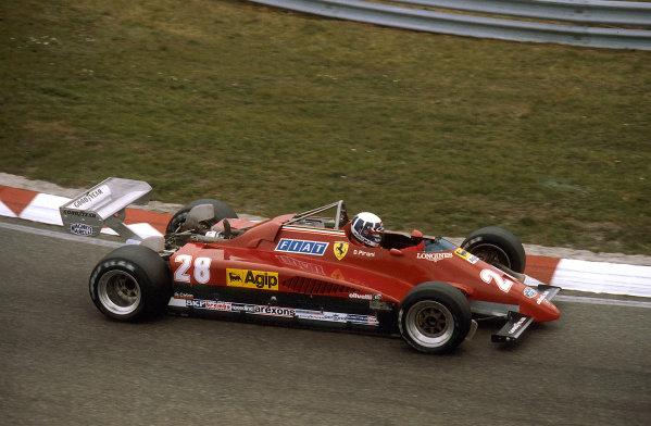 Zandvoort, Holland.1-3 July 1982.Didier Pironi (Ferrari 126C2) 1st position.Ref-82 HOL 01.World Copyright - LAT Photographic