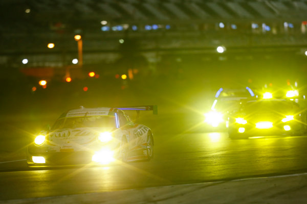 IMSA WeatherTech SportsCar Championship Rolex 24 Hours Daytona Beach, Florida, USA Sunday 28 January 2018 #59 Manthey Racing Porsche 911 GT3 R, GTD: Steve Smith, Harald Proczyk, Sven Muller, Matteo Cairoli, Randy Walls World Copyright: Jake Galstad LAT Images  ref: Digital Image galstad-DIS-ROLEX-0118-307151