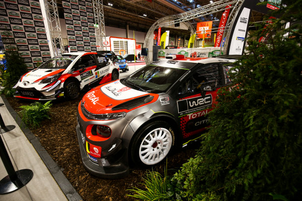 Autosport International Exhibition. National Exhibition Centre, Birmingham, UK. Sunday 14th January, 2018. The Wales Rally GB stand.World Copyright: Mike Hoyer/JEP/LAT Images Ref: AQ2Y9444