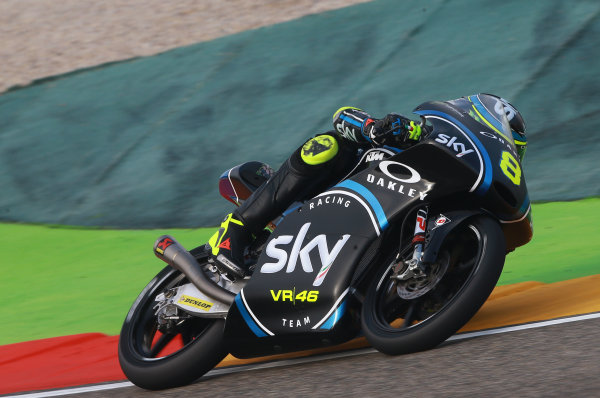 2017 Moto3 Championship - Round 14 Aragon, Spain. Saturday 23 September 2017 Nicolo Bulega, Sky Racing Team VR46 World Copyright: Gold and Goose / LAT Images ref: Digital Image 14020