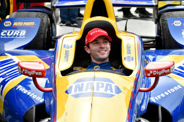 Verizon IndyCar Series IndyCar Grand Prix at the Glen Watkins Glen International, Watkins Glen, NY USA Sunday 3 September 2017 Alexander Rossi, Curb Andretti Herta Autosport with Curb-Agajanian Honda celebrates the win in Victory Lane World Copyright: Scott R LePage LAT Images