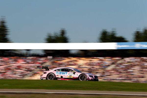 2017 DTM Round 9  Hockenheimring, Germany  Sunday 15 October 2017. Edoardo Mortara, Mercedes-AMG Team HWA, Mercedes-AMG C63 DTM  World Copyright: Alexander Trienitz/LAT Images ref: Digital Image 2017-DTM-HH2-AT2-1778