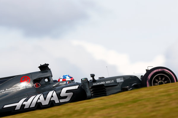 Circuit of the Americas, Austin, Texas, United States of America. Friday 20 October 2017. Romain Grosjean, Haas VF-17. World Copyright: Sam Bloxham/LAT Images  ref: Digital Image _W6I2780