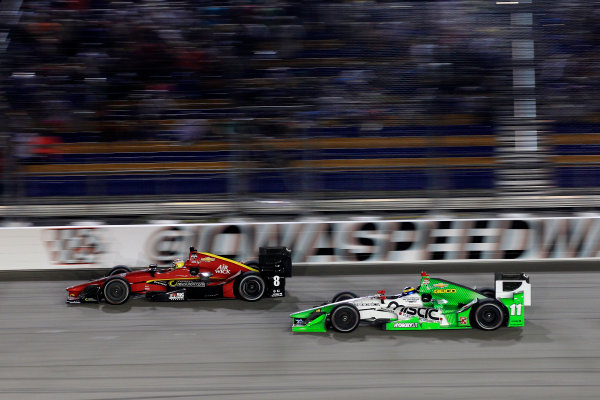 17-18 July, 2015, Newton, Iowa USA Sage Karam leads Sebastien Bourdais ?2015, Phillip Abbott LAT Photo USA