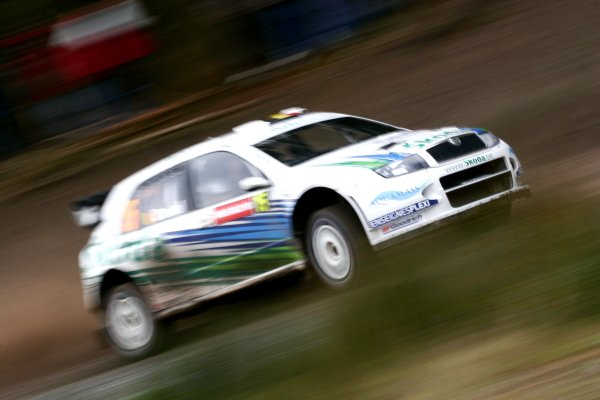 2006 World Rally Championship.Round 16, Wales Rally GB. 1st - 3rd  December 2006.Francois Duval/Patrick Pivato. Fabia WRC. Action.World Copyright: Drew Gibson/LAT Photographic.Ref: Digital Image Only.