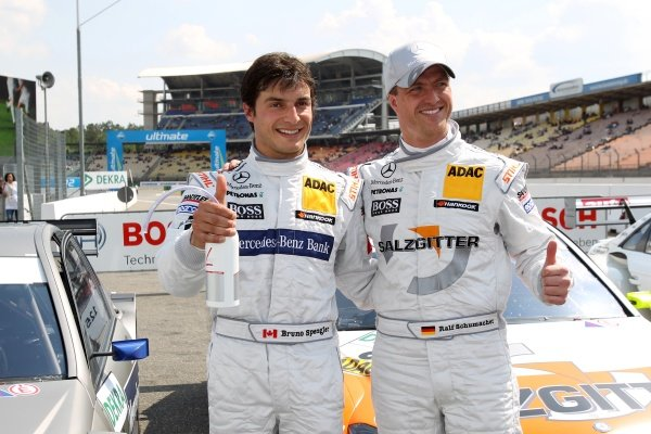 L-R: Bruno Spengler (CDN), Mercedes-Benz Bank AMG and Ralf Schumacher (GER), Salzgitter AMG Mercedes.