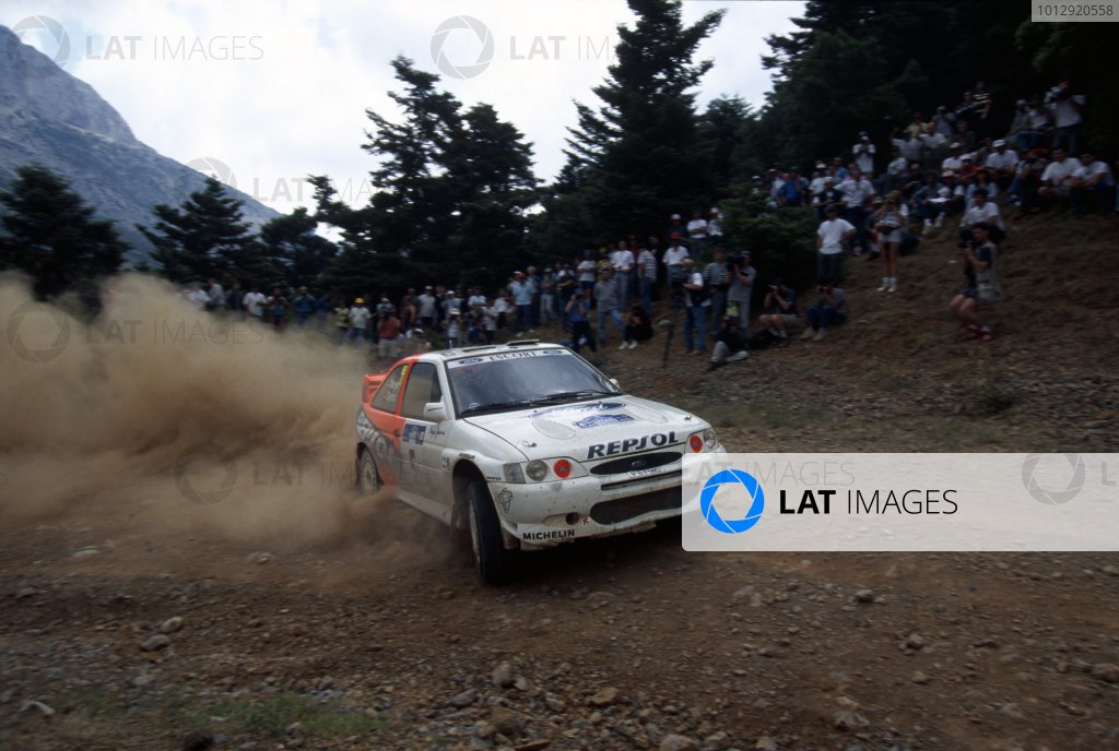 1997 World Rally Championship.Acropolis Rally, Greece. 8-10 June 1997.Carlos Sainz/Luis Moya (Ford Escort WRC), 1st position.World Copyright: LAT PhotographicRef: 35mm transparency 97RALLY05