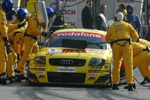 Pitstop of Laurent Aiello (FRA), Hasseröder Abt-Audi, Abt-Audi TT-R. DTM Championship, Rd 8, A1-Ring, Austria. 07 September 2003. DIGITAL IMAGE
