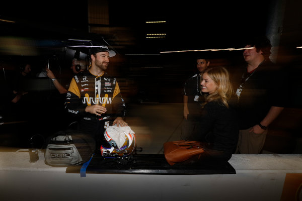 2017 IndyCar Media Day - Track Action Phoenix Raceway, Arizona, USA Saturday 11 February 2017 James Hinchcliffe and friends World Copyright: Michael L. Levitt/LAT Images ref: Digital Image _AT_3977