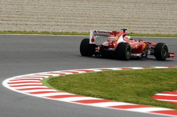 Felipe Massa (BRA) Ferrari F138.Formula One World Championship, Rd5, Spanish Grand Prix, Practice, Barcelona, Spain, Friday 10 May 2013.
