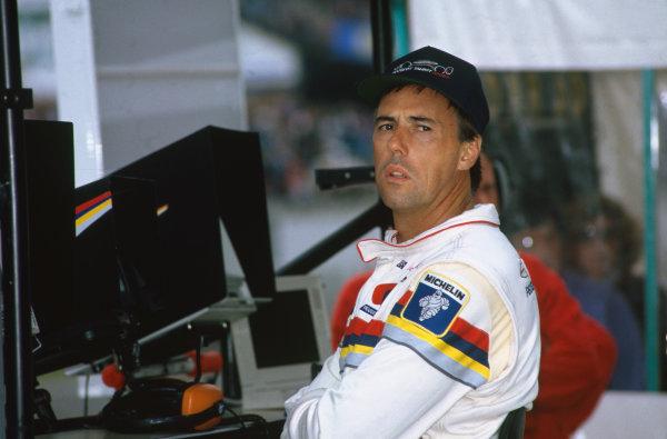 1993 Le Mans 24 hours. Le Mans, France. 19th - 20th June 1993. Geoff Brabham (Peugeot 905C), 1st position, portrait.   World Copyright: LAT Photographic.