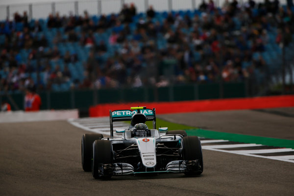 Silverstone, Northamptonshire, UK Friday 8 July 2016. Nico Rosberg, Mercedes F1 W07 Hybrid. World Copyright: Hone/LAT Photographic ref: Digital Image _ONZ8853