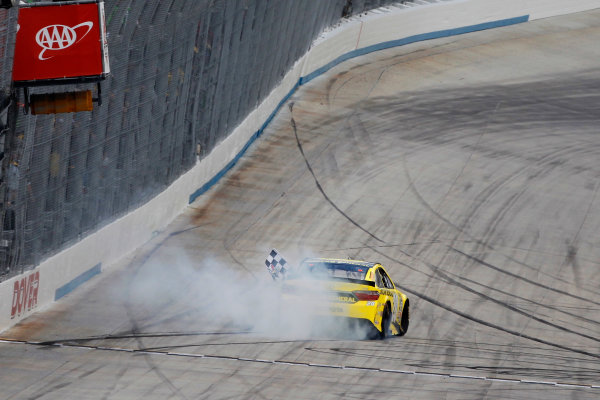 13-15 May, 2016, Dover, Delaware USA Matt Kenseth, Dollar General Toyota Camry celebrates his win with a burnout ?2016, Russell LaBounty LAT Photo USA