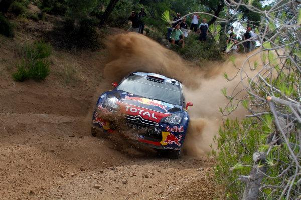 Round 07 Acropolis Rally. 16th - 19th June 2011.Sebastien Loeb, Citroen WRC, Action.Worldwide Copyright: McKlein/LAT