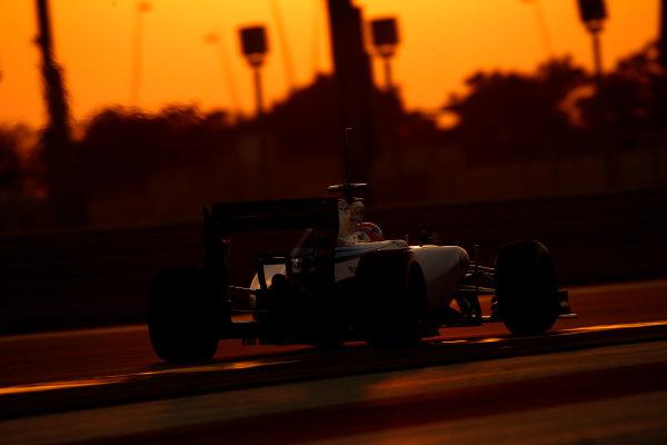 Yas Marina Circuit, Abu Dhabi, United Arab Emirates. Wednesday 26 November 2014. Felipe Nasr, Williams FW36 Mercedes. World Copyright: Glenn Dunbar/LAT Photographic. ref: Digital Image _89P9081