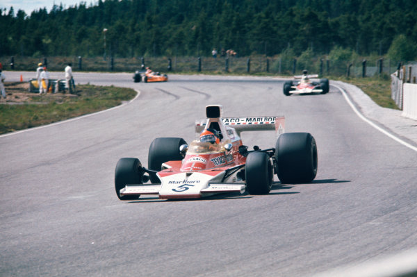 1974 Swedish Grand Prix  Anderstorp, Sweden. 7-9 June 1974.  Emerson Fittipaldi, McLaren M23 Ford, 4th position.  Ref: 74SWE09. World Copyright: LAT Photographic