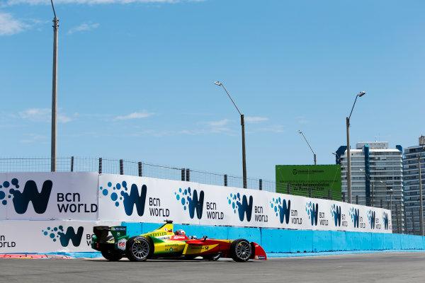 2014 FIA Formula E Championship. Punta del Este ePrix, Uruguay. Daniel Abt (GER)/Audi Abt Sport - Spark-Renault SRT_01E. Photo: Zak Mauger/LAT/FE ref: Digital Image _L0U9652