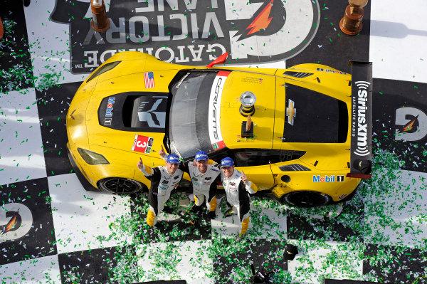 22-25 January, 2015, Daytona Beach, Florida USA In Victory Lane. 3, Chevrolet, Corvette C7.R, GTLM, Jan Magnussen, Antonio Garcia, Ryan Briscoe ?2015, F. Peirce Williams LAT Photo USA