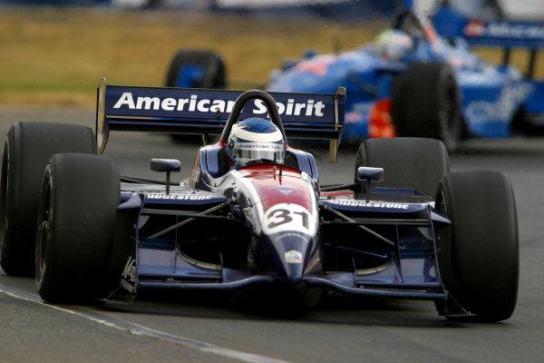 2003 Portland Champ Car, Portland International Raceway, 20-22 June, 2003 , Portland, OR, USA.Ryan Hunter-Reay leads Alex Tagliani.World Copyright: Phillip Abbott/USA,LAT Photographic.