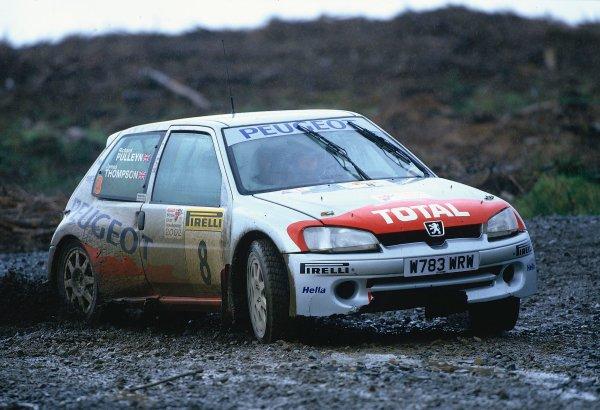 2002 British Rally Championship.Pirelli International Rally, Gateshead, April 26-28 2002.BTCC regular, James Thompson drove in a Peugeot 106 S16.World Copyright: Griffiths/LAT PhotographicRef: 35 mm original transparency