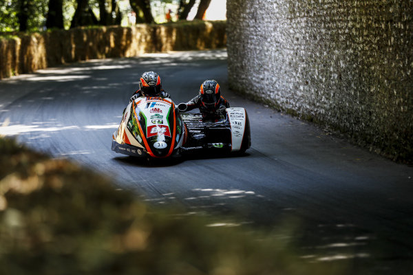 Motorcycle and sidecar action