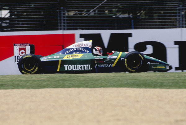 1994 Australian Grand Prix.Adelaide, Australia. 11-13 November 1994.Hideki Noda (Larousse LH94 Ford).Ref-94 AUS 63.World Copyright - LAT Photographic