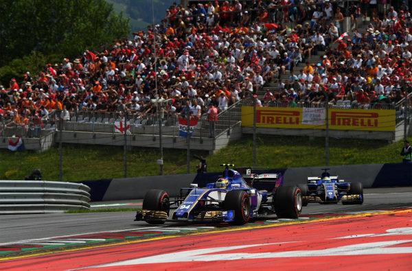 Pascal Wehrlein (GER) Sauber C36 at Formula One World Championship, Rd9, Austrian Grand Prix, Race, Spielberg, Austria, Sunday 9 July 2017.