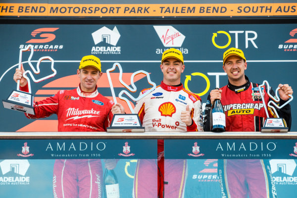 Will Davison, 23Red Racing Ford, Scott McLaughlin, DJR Team Penske Ford, Chaz Mostert, Tickford Racing Ford