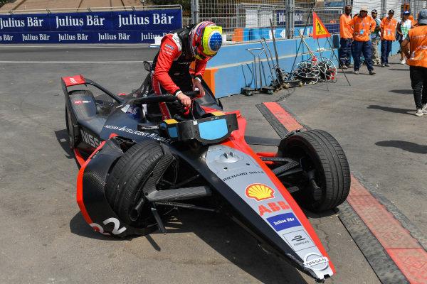 Oliver Rowland (GBR), Nissan e.Dams, Nissan IMO2, crashes